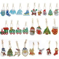 Gemälde DIY Weihnachten Diamant Keychain Special geformt Volle Malerei Schlüsselanhänger Kreuzstich Stickerei Frauen Tasche Schlüsselanhänger