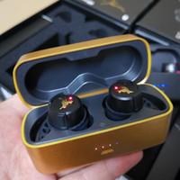 Top Quality Golden Cow Wireless Headphone Projecto de Rock True Flash Sem Fio 2.0 Fones De Ouvido Fones De Ouvido Esportes Ouro Preto