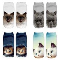 Impression 3D Chaussettes de bateau de chat de chat dessin animé animal de polyester fibre mignon hiver femmes hommes chaud stéréo chaussette mode haute qualité 1 8Hz m2