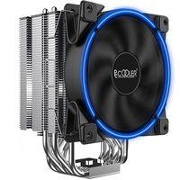 PCCOooler PC 120 mm LED CPU Fan de enfriador para alojamiento Radiador de procesador de computadora de enfriamiento de aire para Intel LGA1155 / 115X / 775 AMD AM41