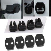 Toyota Prado 2010-2020 자동차 자동 ABS 블랙 도어 로커 제한 스토퍼 커버 장식 트림 프레임