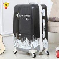 24 인치 ABS + PC 여행 가방 여행 트롤리 20 ''롤링 수하물 캐빈 트롤리 여행 키즈 가방