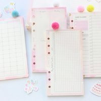 Domikee New Cute Kawaii School 6 Furos Reabastecimento Folhas de Papel para Blanker Planner Caderno Espiral: Daily Weekly Mensal Planner