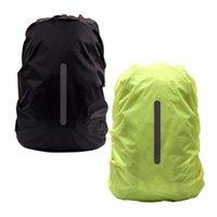 أكياس في الهواء الطلق 2 قطع ماء حقيبة الظهر العاكس غطاء المطر 8-17L ليلة السلامة ضوء حقيبة ل التخييم المشي لمسافات طويلة التسلق (الحجم XS، أسود