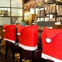 Рождественский стул Cover Santa Prose Red Hat Country Back Caparing Ужин Стул Крышки Наборы для Рождества Рождественские Украшения Домашние вечеринки WQ37