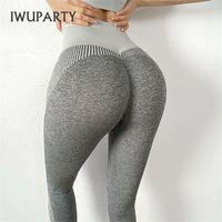Iwuparty sexy joga pantalones elásticos mujeres inconsútil deporte gimnasio gimnasio correr entrenamiento scrunch butt booty leggings q1123