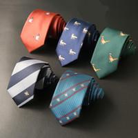 2020 7 cm Tie per uomo Jacquard tessuto cravatta collo legami per uomo Bridegroom Business Cravatta Camicia Corbatas Logo personalizzato