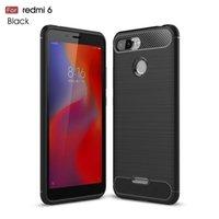 Для Redmi 6 мягких силиконовых углеродных волоконно-волокна Cover Cover для Redmi 6 из углеродного волокна мягких ударов с полным покрытием телефона для Redmi 6