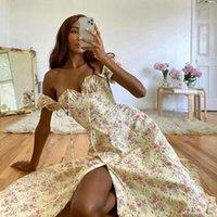 Avrilyaan Flower Print Sexy Long for Women High Split Night Club Party Dresses Backless Bodycon Summer Dress Vestidos 2020