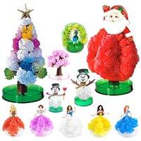 Nowo Magic Rosnące Kryształy Sakura Papier Choinki Zabawki Choinki Desktop Wiśnia Kwiat Boże Narodzenie Zabawki Dla Dzieci Zabawne