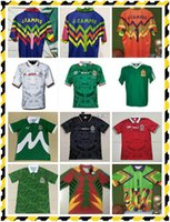 Mexico Jorge Soccer Jersey S-2XL # 1 Gardien de but Zidane Henry Football Shirt Campos # 1 1998 Retro Jaune Multicolore Verde Rose Multicolor