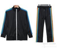 2021 Yeni Varış Palm Baskılı Melekler Tasarımcı Eşofman Erkekler Kadınlar İlkbahar Sonbahar Eşofman Tasarımcı Ceketler Siyah Jogger Spor Suit