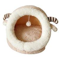 Cães aquecidos e confortáveis para animais de estimação Cães Cat Cama Casa Inverno Inverno Sacos Portáteis Interior Nested Fechado Dobrável
