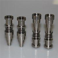 10 14 18mm 6 dans 1 Nail Titanium Domeless GR2 TI E-Clou pour 16mm ou 20mm Bobine à ongles en céramique vs ongles de quartz
