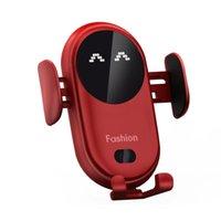 Smart Infrarot Sensor Auto Wireless Ladegerät Auto Halter Mobiltelefon Wireless Ladegerät Farbe Rot