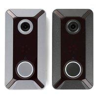 WiFi Doorbell Smart Wireless 720P Cámara de video Nube Almacenamiento Puerta Bell Cámara Impermeable Casa Seguridad Casa Bell Black Grey1