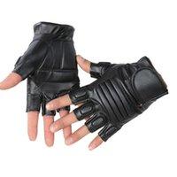 Наружная охота мужская искусственная кожа тактический спортивный тренажерный зал Фитнес велосипедные половинные пальцы вождение черной перчатки J7 1 NGH6C
