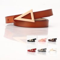 2020 New Triangle Buckle Ladies Leather Belt Fashion Korean ...