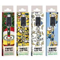 E-Cigarette Twist Batterie de préchauffage 380MAH 3.3V-4.8V Tension variable 510 Batterie de vape avec enveloppe personnalisée VS Vision Spinner Stylo