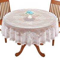 Vintage Lace Toalha de Tablecloth Retângulo Redondo Capa de Pano Casa Festa Decoração Decoração SDF-Ship1