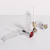 Vendita all'ingrosso di lusso Diamond Lip Gloss Tubi trasparenti Vuoti Lip Gloss Tubo Lip Gloss Bottiglia Bottiglia Imballaggi Contenitori Riutilizzabili Bottiglie di lipgloss ricaricabili