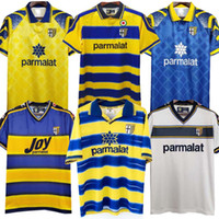 95 97 98 99 2000 Parma Retro Jersey Jersey Home 98 99 00 Fuser Baggio Crespo Ortega Cannavaro Camisa de fútbol Buffon Thuram Futbol Camisa
