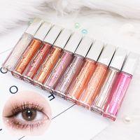 10 цветных Diamone Eye Shadow Nude Metal Shimmer Glow Glitter Одиночные жидкие тени для теней для теней для глаз Макияж Пигментные аксессуары Красота косметика