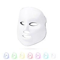 Máscara facial da terapia da luz do diodo emissor de luz 7 da cor - Terapia da luz do fóton para a pele saudável Rejuvenescimento - cuidado facial da pele do cuidado da pele antienvelhecimento dispositivo de clareamento da pele