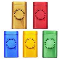 Dugout Bag Mühle Kit Prise Hitter Raucherschleifer Fall 3 in 1 Rohr Metall Aluminium = mit Lagerung Cotainer für Tabaktrockner Kraut