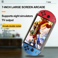 Joueur de jeu vidéo Player X12 Plus Portable Jeu de poche Portable Console PSP Rétro Dual Rocker Joystick 7 pouces Affichage de l'écran