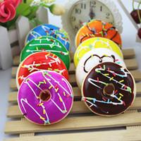 Simulação fofo donut espremedor espremedor kawaii brinquedo estresse sensível macio filhós colorido scented brinquedos crescentes