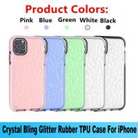 Novo para iPhone 12 Pro Max caso macio protetor à prova de choque protetor de cristal bling glitter tpu capa para iphone 11 xs max xr se 2020 7 8plus