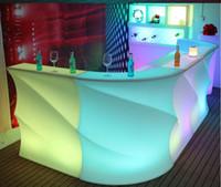 Simple moderno LED iluminación creativa baraja de vino Gabinete de vino KTV Cajero Atención al aire libre Muebles impermeables