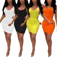 Повседневные платья женщины сексуальные летние без спинки bodycon мини-платья вырезка letewew streetwew ночной клуб