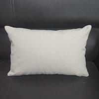 12x18 Lomber Yastık Kılıfı 12 OZ Doğal Tuval Boş Yastık Kapak Kalın Pamuk Düz DIY için Yastık Kapak