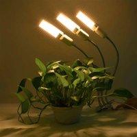 Partihandel 60W 5V Dimbar Tre-Head Flat Clip Corn Plant Light Full Spectrum Warm White 3000K 132LED Silver (Faktisk Power 20W)