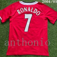 Top 2004/06 Jerseys de fútbol retro Vintage Classic Ronaldo 7 Rooney 10 Scholes 18 Ferdinand 5 Camisa 2005 Camisa de fútbol Camiseta Futbol Camisetas Maillot Tamaño S-XXL 2009/10