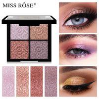 Miss Rose Shimmer Matte Glitter Teeshadow Палитра Blusher Лицо Контур Макияж Палитра 4 Цветные Тень Тени