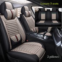 Couverture de siège de voiture de lin / cuir universel pour Lexus est IS200 IS250 IS300 IS350 LS LS350 LS500 LS460 LS600H Automobiles Couvre-cou.