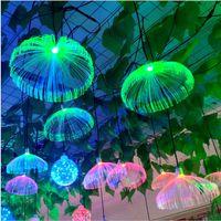 Yaratıcı Kapalı Işık Dream Fiber Denizanası Lambası Peyzaj Lamba Renkli LED Avize Aydınlatma Festivali Dekorasyon Noel Partisi için