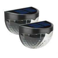 Lámparas solares al aire libre impermeabolas eléctricas LED de pared 6 LED LED luces Sensor Lámpara de jardín fresco cálido Bulbo blanco