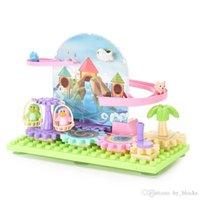 Blocos de construção de bebê mão engraçado trilho manivela o playground adiantado para brinquedo lançamento educacional colorido rotação presente wfrva