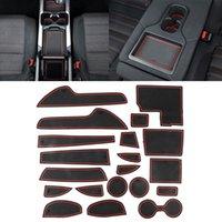 자동차 워터 컵 게이트 슬롯 매트 플라스틱 빨간색 안티 슬립 인테리어 도어 패드 Mazda CX-5 2015