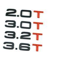 Gloss Black Red T 1.8T 2.0T 3.0T 3.2T 3.6T Багажник значки эмблемы Значок эмблемы для Audi A4 A4 A6 A7 A8 S3 S4 R8 R8 RSQ5 Q5 Q5L