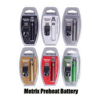 Metrix 예열 배터리 블리스 터 키트 650mAh 정점 예열 가변 전압 VV 배터리 USB 충전기 vape 펜 510 두꺼운 오일 카트리지 DHL