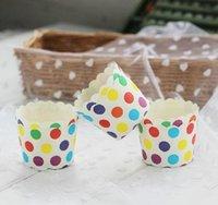 لون كعكة العفن كوب متنوعة 20 تصميم الكعك كيك القالب حالة ورقة الخبز كأس بطانات العفن كعكة الديكور Dia60 * 45 bbynys soif