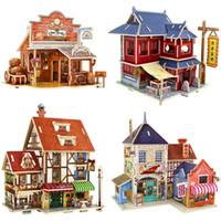 Dreidimensionales Puzzle Exotische Haus Holz Tuttikiwi Farbkabine DIY 3D KINDER HOME GAME Pädagogisches Spielzeug