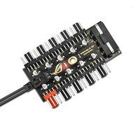 4 Pin Raffredding Fan Hub Computer PWM Accessori Adattatore Adattatore Velocità Controller da 1 a 10 Way Scheda madre Schemitter di connessione Universal1
