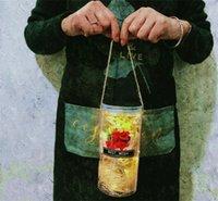 Bouquet de bouquet séché Saint-Valentin Souhaitant bouteille Immortale fleur de savon transparent Vase originalité Hay DIY Pilier SHAPE 12BY L2