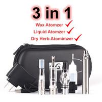 EGO 3in1 Buharlaştırıcı Kuru Herb Vape Marş Kiti Atomizer Balmumu Kalem MT3 Clearomizer 3 in 1 Evod Pil Buharlaştırıcılar Kalemler